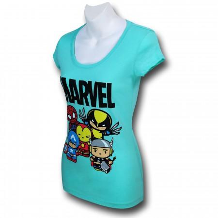 Marvel Cute Heroes Women's T-Shirt