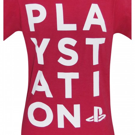 Playstation Logo Red Heather Men's T-Shirt