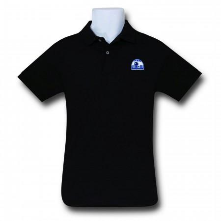 Star Wars R2D2 Black Polo Shirt