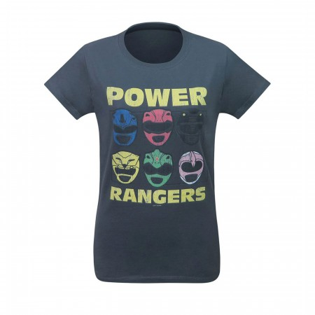 Power Rangers Morphin Time Helmets Women's T-Shirt