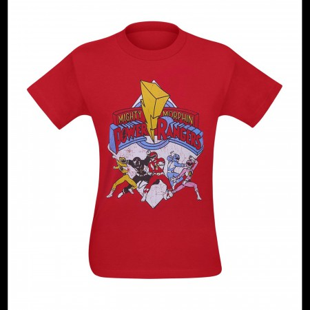 Power Rangers Retro Rangers Men's T-Shirt