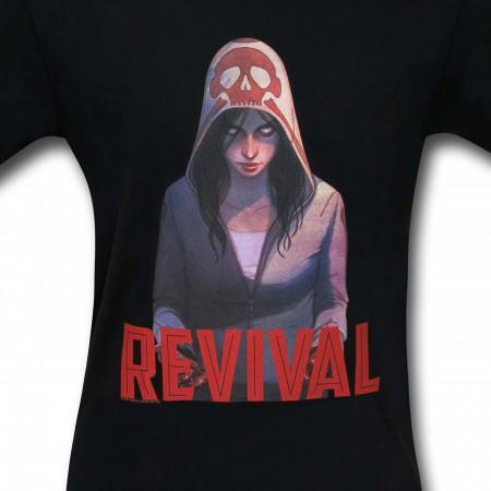 Revival Em on Black T-Shirt