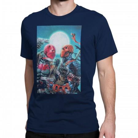 Red Hood Vs Deathstroke Men's T-Shirt