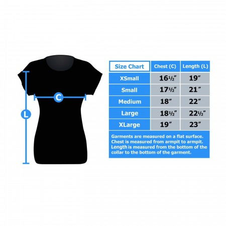 Reverse Flash Logo Women's Rolled Sleeve T-Shirt