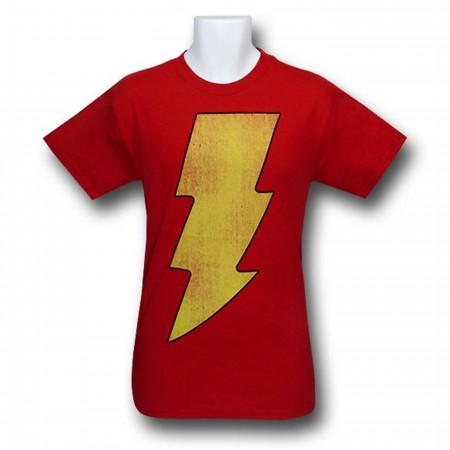 Shazam Distressed Symbol T-Shirt