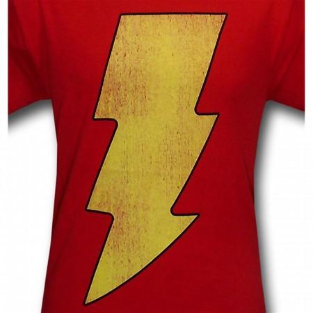 Shazam Distressed Symbol T-Shirt