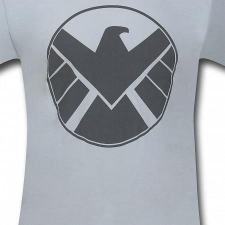 S.H.I.E.L.D Silver Eagle 30 Single T-Shirt