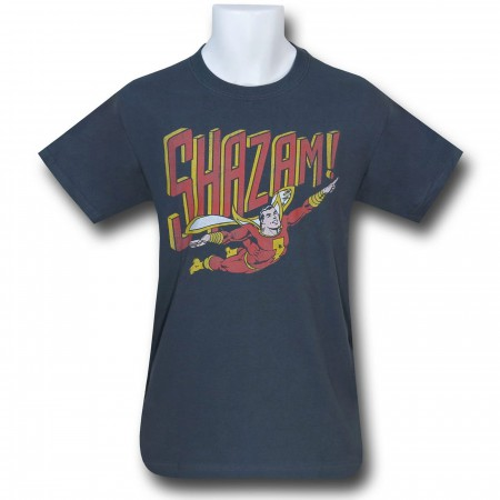 Shazam Retro Flight Charcoal T-Shirt