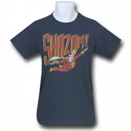 Shazam Retro Flight Charcoal T-Shirt