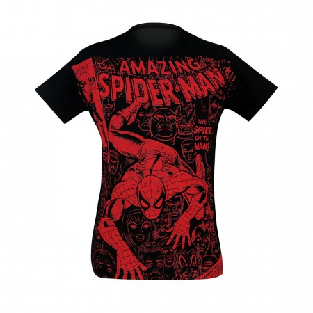 Spider-Man #100 Cover Black 30 Single T-Shirt