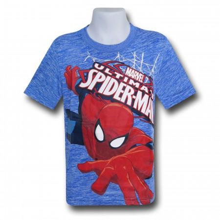 Spiderman Wall Crawler Kids Space Dye T-Shirt
