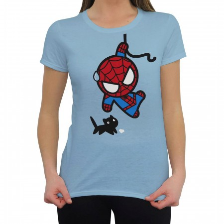 Spiderman Black Cat Kawaii Women's T-Shirt