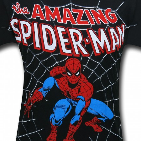 Spiderman Crouch Big Print (30 Single) T-Shirt