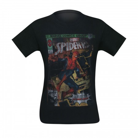 Spider-Man Distressed Cover Men's T-Shirt