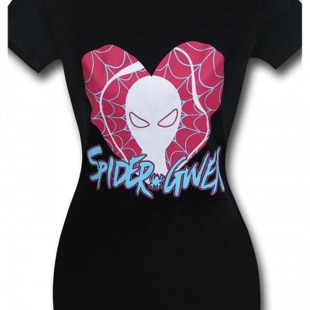 Spider-Gwen Heart Logo Womens T-Shirt