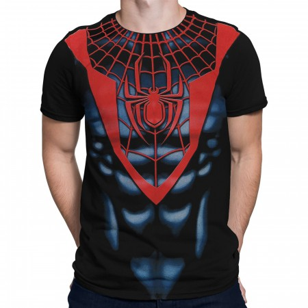 Ultimate Spiderman Black Red Costume T-Shirt