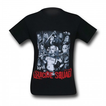 Suicide Squad Harley Quinn & Squad Men's T-Shirt