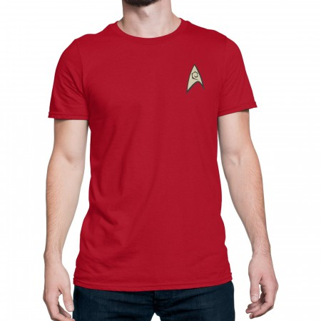 Star Trek Engineering Security Uniform T-Shirt