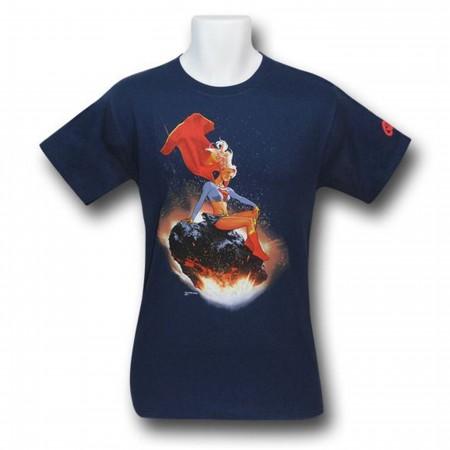 Supergirl T-Shirt Meteorite Adam Hughes