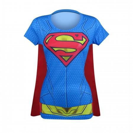 Supergirl Suit Up Women's Costume T-Shirt