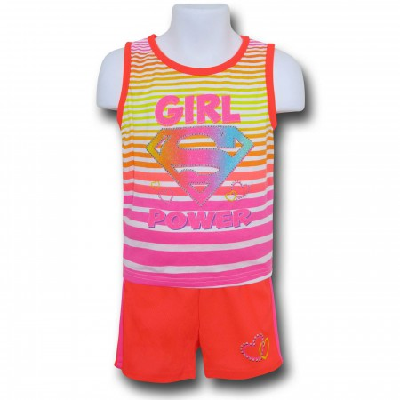 Supergirl Girls Kids Tank & Short Set