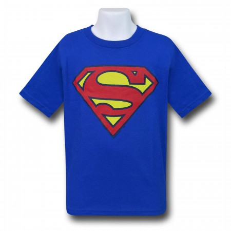 Superman Kids Royal Blue Symbol T-Shirt