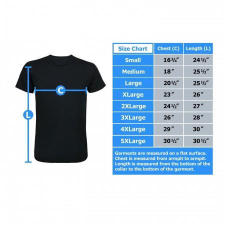 Superman Symbol T-Shirt on Navy Blue