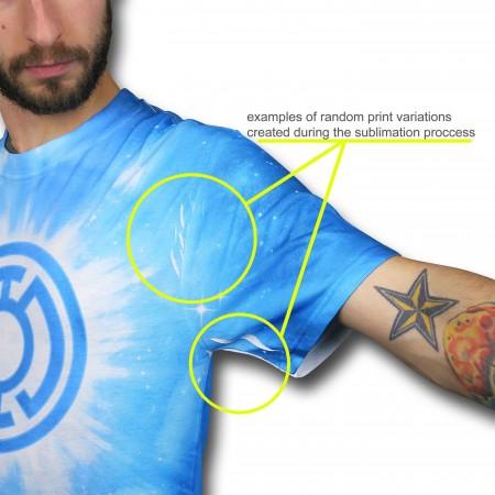 Superman Winged Symbol Blue Sublimated T-Shirt