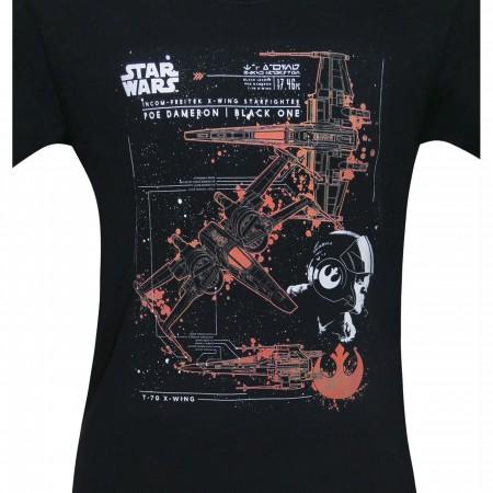 Star Wars Black One T-70 X-Wing Men's T-Shirt