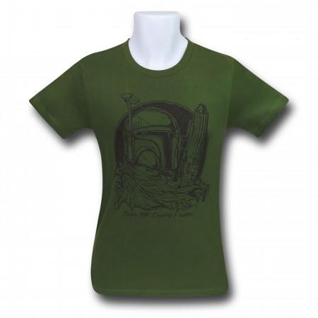 Star Wars Boba Fett Bust Sketch Men's T-Shirt