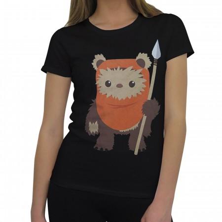 Star Wars Cute Ewok Wicket Women's T-Shirt