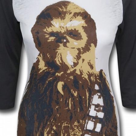 Star Wars Chewbacca Stance Women's Baseball T-Shirt