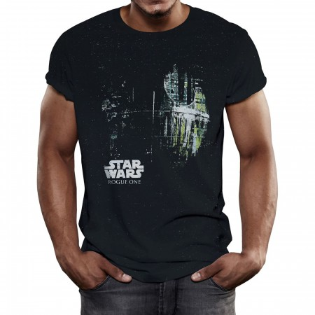 Star Wars Dripping Death Star Men's T-Shirt