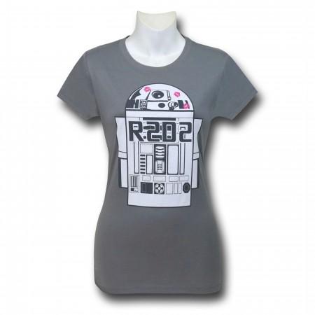 Star Wars R2D2 on Grey Women's T-Shirt