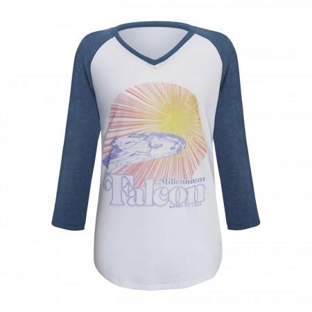 Star Wars Solo The Falcon Women's Baseball T-Shirt