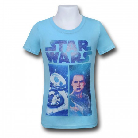 Star Wars Force Awakens Rey BB8 Girls T-Shirt
