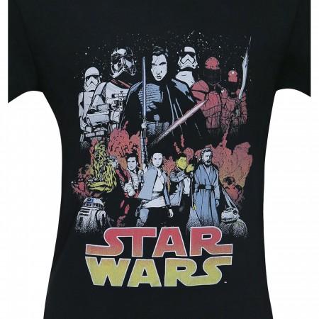 Star Wars Last Jedi Divine Journey Men's T-Shirt