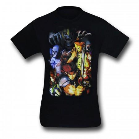 Thundercats Modern Group Black T-Shirt
