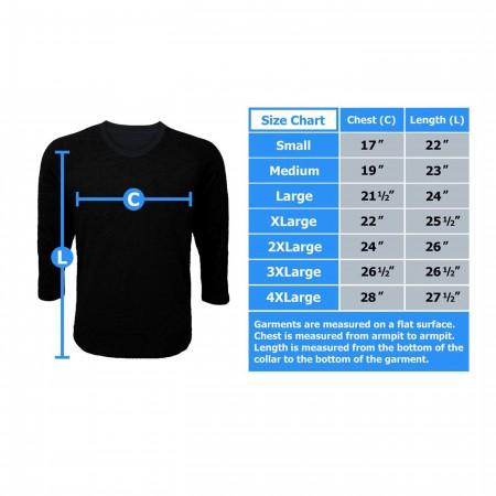 Thor Hammer Symbol Men's Baseball T-Shirt