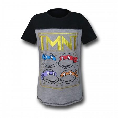 TMNT Heads Girls Youth T-Shirt