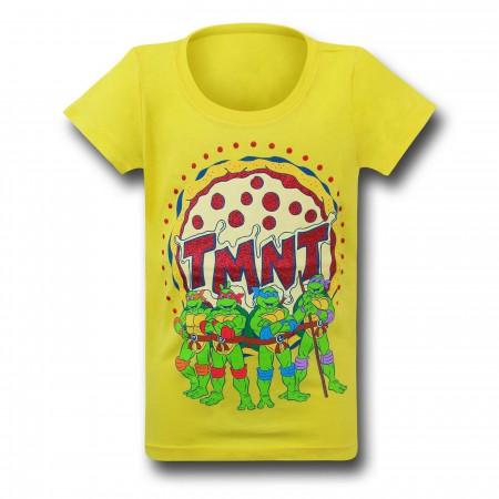 TMNT Group Girls Yellow T-Shirt