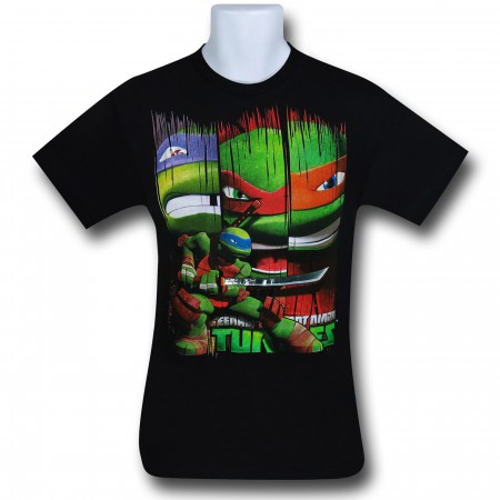 TMNT Leo In Front of Hero Bars Kids T-Shirt