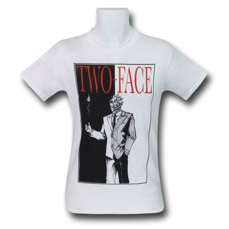Two Face Say Hello To My Little Friend Men's Ringer Shirt
