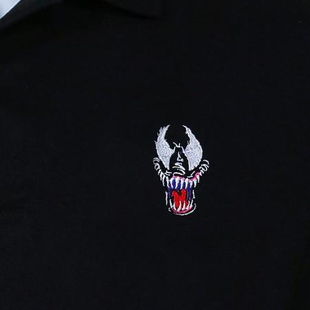 Venom Face Black Polo T-Shirt