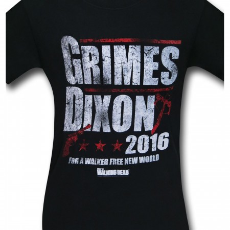 Walking Dead Grimes & Dixon 2016 Men's T-Shirt