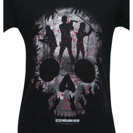 Walking Dead Skull Heroes Montage Men's T-Shirt