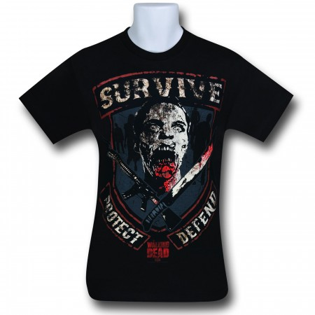 Walking Dead Survive Protect T-Shirt