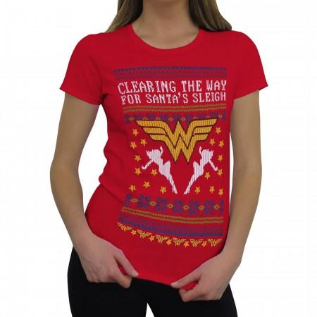 Wonder Woman 8-Bit Ugly Sweater Women's T-Shirt