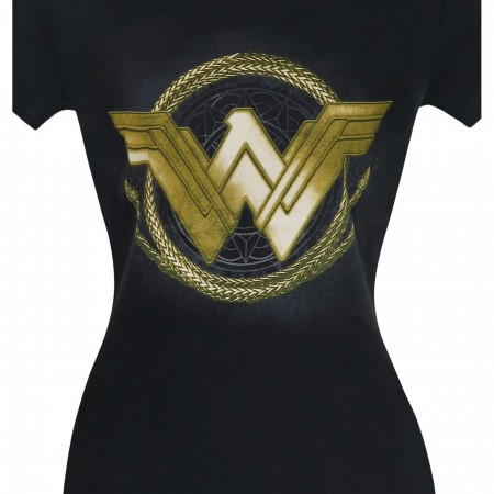 Wonder Woman Movie Golden Lasso Logo Women's T-Shirt