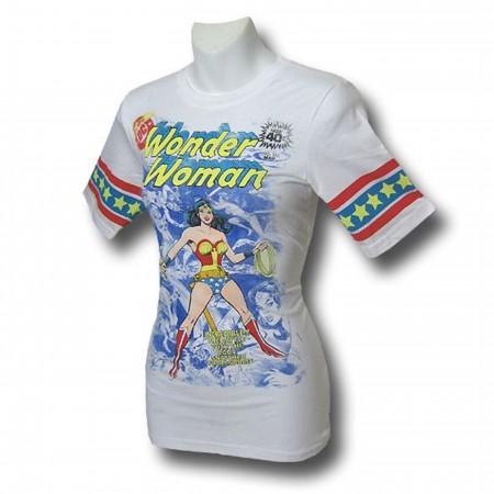 Wonder Woman Jr Womens Battle Athletic T-Shirt